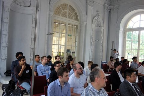 Participants of ISAM4 2019 in the Wassersaal of the Orangerie (Image: GRK 2423 FRASCAL)
