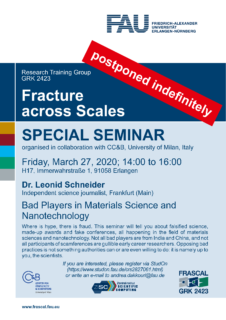 "Zum Artikel ""Announcement: Dr. Leonid Schneider: ""Bad Players in Materials Science and Nanotechnology"" on March 27, 2020"""