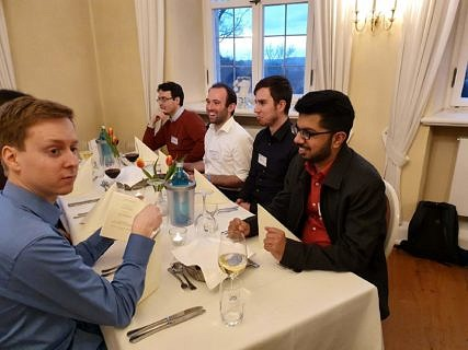 Doctoral researchers at the conference dinner (Image: A. Dakkouri-Baldauf)